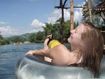Lazin' in Laos with Friends