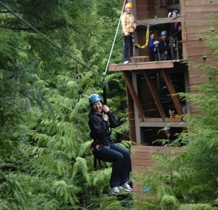 High on Ketchikan, Alaska: Zip-lining Through the Wilderness