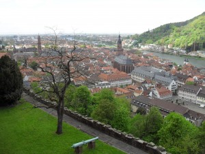 Bird's eye view of Heidelberg