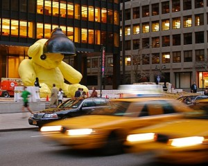 NYC's Giant Yellow Teddy Bear