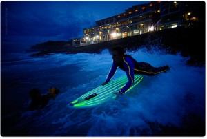 Neon Surfers at Bondi Beach