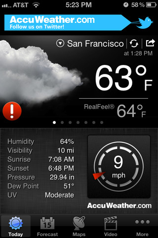accuweather iphone app