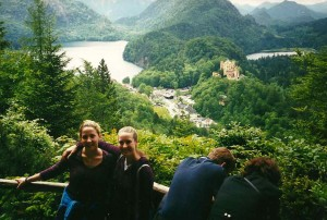 Jen and Amanda in Germany, Summer 2000