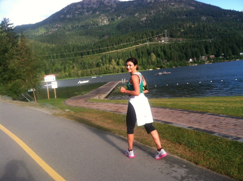 Holly running in Whistler